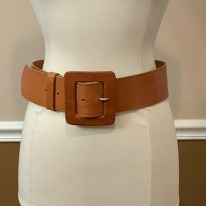 Camel Italian leather belt WCM for Newman Marcus M